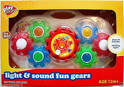 Play Right Kids,fun With Gears Playset,w/ Lights & Sounds,plays 18 Tunes,1+,new