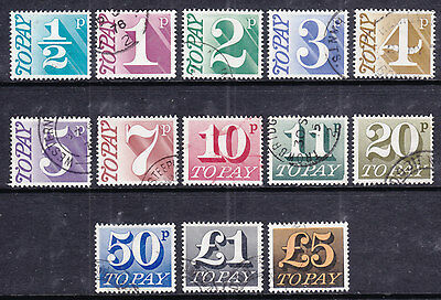 1970 Postage Due Set Of 13 Sgd77/d89 Nice - Fine Used