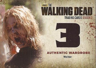 "Walking Dead Season 3 Part 2 - W10 ""Walker's"" Wardrobe Card"