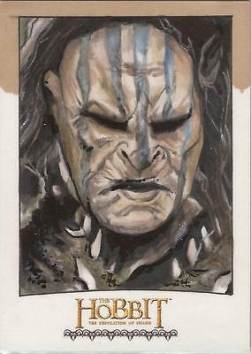 "The Hobbit Desolation of Smaug - Mike James ""Narzug"" Sketch Card"