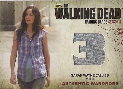 "Walking Dead Season 3 - M15 ""Lori's"" Wardrobe Card"