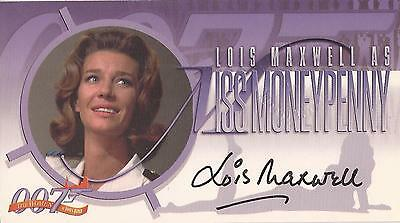 "Women of James Bond A2 Lois Maxwell ""Moneypenny"" Auto / Autograph + Redemption"