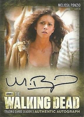 "Walking Dead Season 3 Part 2 - A21 Mellissa Ponzio ""Karen"" Autograph Card"