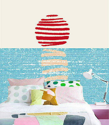 3D Red Day Sea Wall Paper Murals Wall Print Decal Wall Deco AJ WALLPAPE