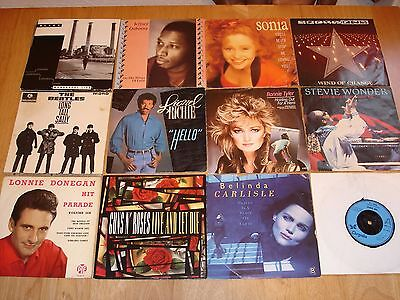 """Job Lot of over 100 x 7"""" and 12"""" Vinyl Singles & albums"""