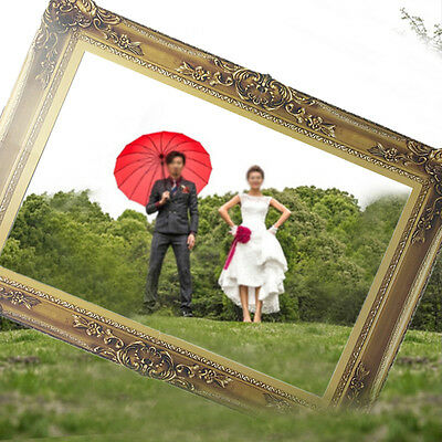 1Pcs Photo Booth Props Antique Paper Frame Large Picture Frame wedding party UT