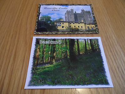 TWO Ireland postcards from 1999