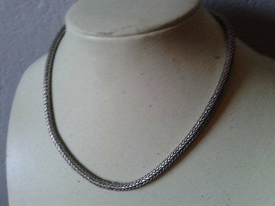 Solid Silver Heavy Choker Necklace 59 grams 925