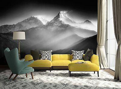 3D Distant Peaks Wall Paper Murals Wall Print Decal Wall Deco AJ WALLPAPE
