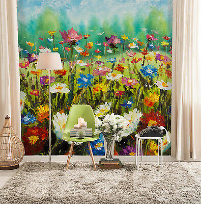 3D Flowers Painted Wall Paper Murals Wall Print Decal Wall Deco AJ WALLPAPE