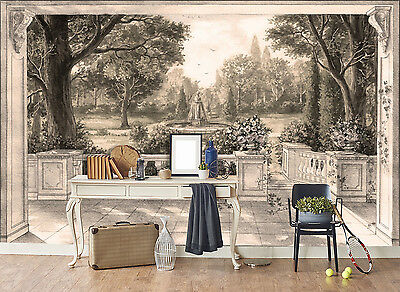 3D Sketch Woods Pool Wall Paper Murals Wall Print Decal Wall Deco AJ WALLPAPE