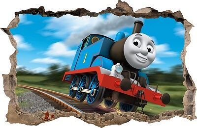TRAIN THOMAS WALL STICKERS Hole in the wall Sticker Vinyl Decor Mural 67