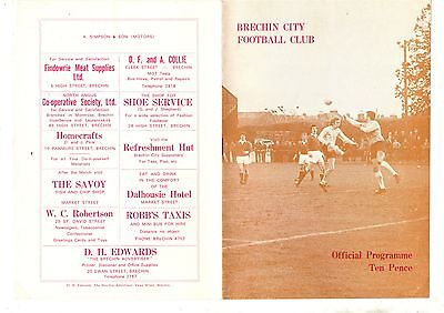 BRECHIN CITY  v QUEEN OF THE SOUTH 1977/8 Scottish League Cup.
