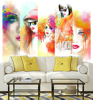 3D Female Face Painting Wall Paper Murals Wall Print Decal Wall Deco AJ WALLPAPE