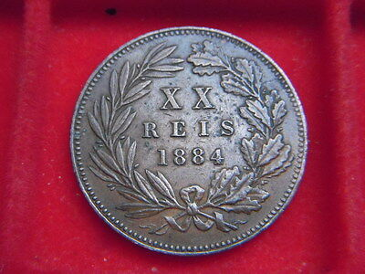 1884 Twenty Reis Coin From Portugal From My Collection [F54]