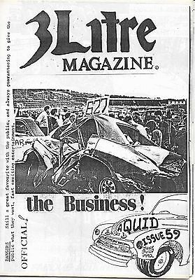 3 Litre. Banger Racing Magazine.  Issue No.59