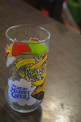 Great Muppet Caper, McDonalds Drinking Glass - Kermit, Fozzie and Gonzo
