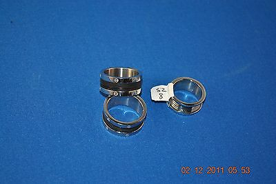 Matching Sterling Alloy Partnership Rings (Set of 3)