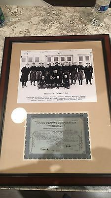 Authentic 1919 Indian Packing Company Stock Cert Green Bay Packers Curly Lambeau