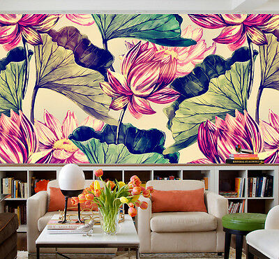 3D Pond Painted Wall Paper Murals Wall Print Decal Wall Deco AJ WALLPAPE