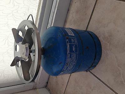 CAMPING GAZ 907 BOTTLE with EUROCAMPING GAS COOKER RING