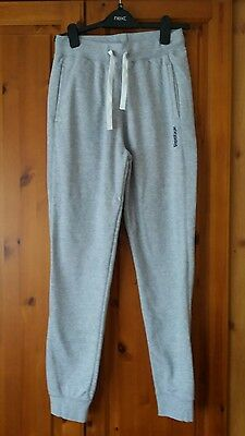 Mens Reebok Tracksuit Jogging Bottoms Grey SIZE small Cuff Fit Pants,