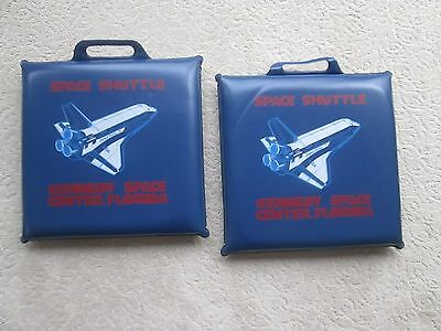 Vintage Set Of Two 1980's Nasa Space Shuttle Seat Cushions Kennedy Space Center