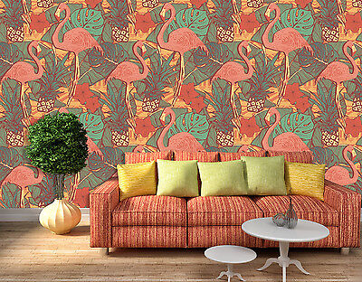 3D Ostrich Painting Wall Paper Murals Wall Print Decal Wall Deco AJ WALLPAPE