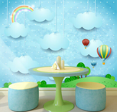 3D Rainbow Clouds Wall Paper Murals Wall Print Decal Wall Deco AJ WALLPAPE