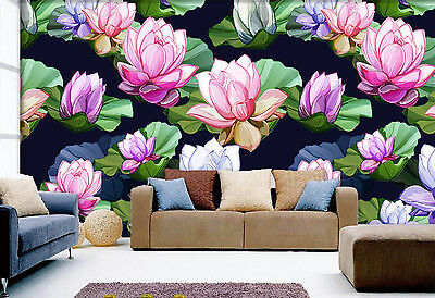 3D Painted Pond Wall Paper Murals Wall Print Decal Wall Deco AJ WALLPAPE