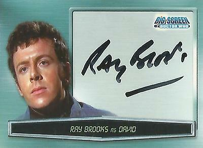 "Doctor Who Big Screen - A4 Ray Brooks ""David"" Autograph Card"