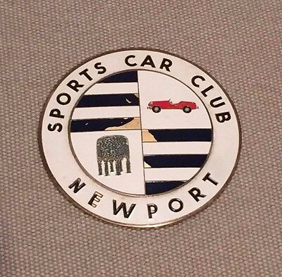 Vintage Enamel Newport (Rhode Island) Sports Car Club Grille Grill Badge