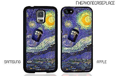 Doctor Who Tardis Vincent Van Gogh Starry Night Painting Phone Case Cover