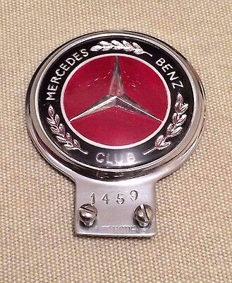 Vintage Mercedes Benz Club Chrome Member Grill Grille Car Badge - Automotif