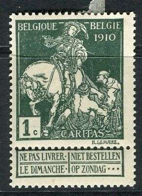 BELGIUM;  1910 Brussels Exhibition issue Mint hinged 1c. value, type B
