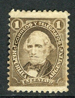 ARGENTINA;  1888 early classic portrait issue Mint hinged 1c. value