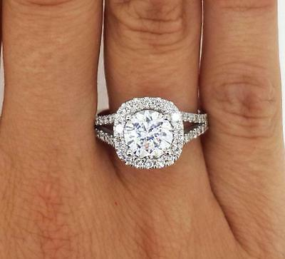 4.75 Ct Round Cut Diamond Engagement Ring VS2/F 14K White Gold 260599