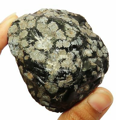 659.10 Ct Natural Certified Black Snowflack Obsidian Gems Rough