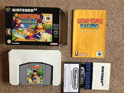 Nintendo N64 boxed Diddy kong racing with manual!
