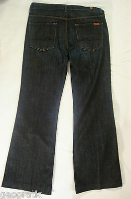 7 For All Mankind Ginger Dark Wash Womens Flare Jeans Size 29 x 31