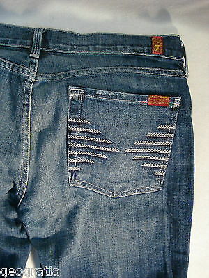 7 For All Mankind Collette Jeans Size 31 x 29.5 In New York Dark (NYD)