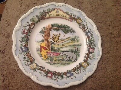Royal Doulton The Rescue Winnie The Pooh Collection Collector's Plate Boxed