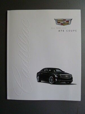 2015 Cadillac ATS Coupe & Sedan DELUXE Showroom Sales Brochure Awesome L@@K