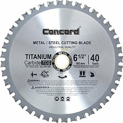 Concord Blades MCB0650T040HP 6-1/2-Inch 40 Teeth Ferrous Blade Metal Cutting TCT