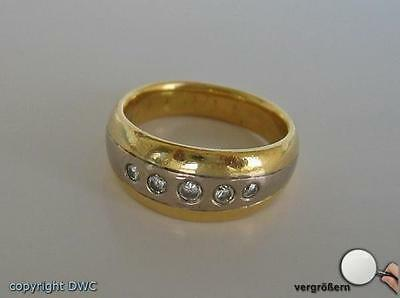 Damen Finger Ring Solitär mit Brillanten Diamanten Brillant Diamant Gold 750