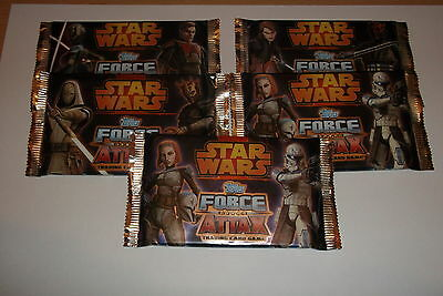 Star Wars Force Attax Series 4 Trading Cards 5 Packs SEALED/