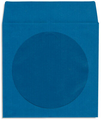 200-Pak =NAVY BLUE= Colored Paper CD/DVD Sleeves with Window & Flap