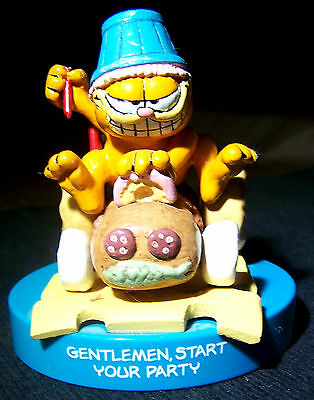 "Vintage 4"" Garfield the Cat ""Gentlemen, Start Your Party"" Resin Figurine - Rare!"