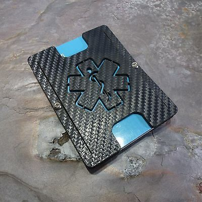 MultiWallet. Holstex Tactical EDC Wallet Carbon Fiber Texture With Multi Tool.