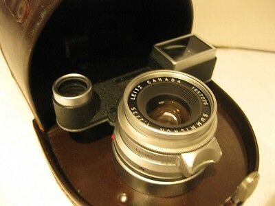 Leica Summicron 35mm F2 lens with goggles - exc condition with case & filter